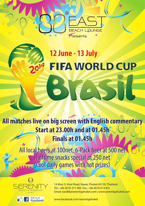 Fifa 2014 Football world cup brazil phuket