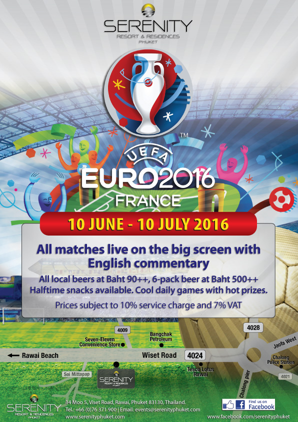 UEFA Euro 2016 Football in Phuket Thailand from France
