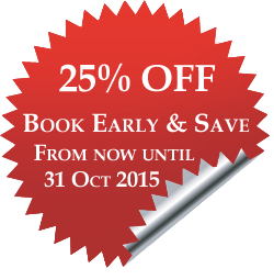 25% OFF Book Early & Save from now until 31 October 2014 at Serenity Resort and Residences Phuket