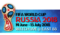 2018 FIFA World Cup Russia Live at East 88 Restaurant & Beach Lounge Phuket