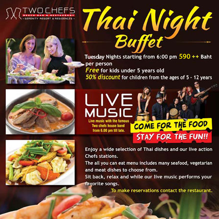 Thai Night buffet only 590++ Baht
