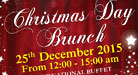 Christmas Day Brunch on 25th Deceber 2015