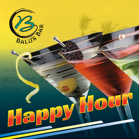 Happy hour at Two Chefs Beach Bar & Restaurant in Phuket Thailand