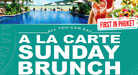 A La Carte Sunday Brunch - Every Sunday from 12:00h to 15:00h