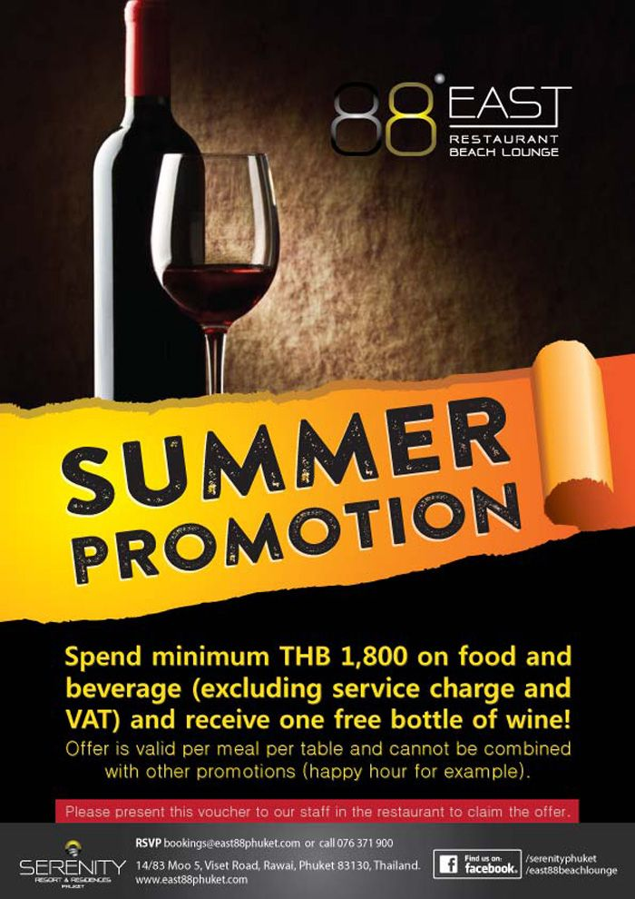 Summer Promotion at East88 Restaurant & Beach Lounge