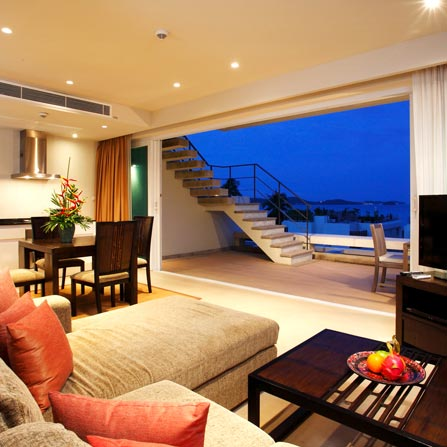 1 bed sea view h20 suite with private pool