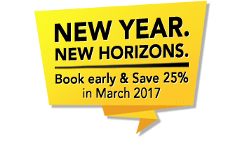 Book today and save up to 25%